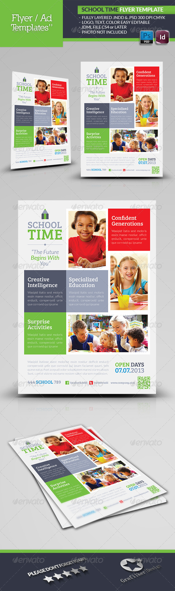 School Time Flyer Template - Print Ad Templates